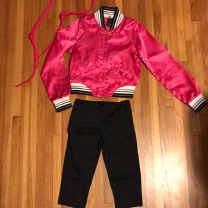 Pink lady dance costume